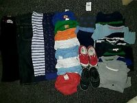 Toddler boy bundle 2-3 years clothes shoes reins stroller mix of new & used