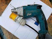 MaKita fs2500 tek gun Metsec screwdriver 110v