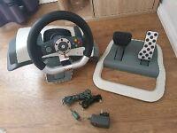 Genuine XBOX 360 Steering Wheel set
