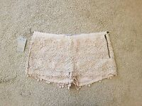 BRAND NEW River Island Cream Crochet Shorts - Size 14