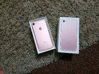 Apple iPhone 7 EE 32GB rose gold excellent condition with box and charger apple warranty