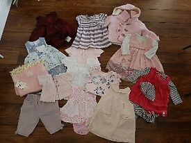 Girls clothes 0-6 months a mixture of Mothercare and next