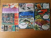 Collectable picture cards and books (~ 1958) from Brooke Bond Tea, Lyons Tea and June