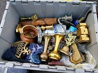 Mix lot of 20 mix brass candle vase &more