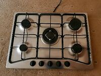 Gas Hob 5 rings &Large extraction kitchen hood
