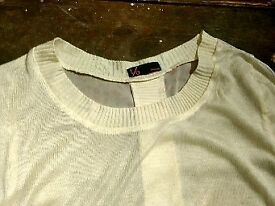 Creamy long sleeve top size 36