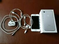 Iphone 7 128gb with box, charger, ear phones adapter etc