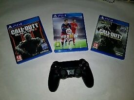 Call of duty black ops 3, cod infinite warfare , fifa 16 and controll pad for PlayStation 4 / ps4