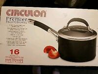 Brand New Boxed Circulon Premier Professional 16cm/1.9L Hard Anodized Covered Saucepan