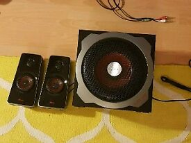 2 awesome speakers and a sub woofer