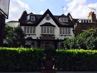 WANTED FULL-TIME FLOOR AND BAR STAFF, HIGHGATE VILLAGE N6