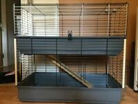 Ferplast 2 tier indoor hutch