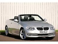 REDUCED FOR QUICK SALE. BMW Convertible 12 reg SAT NAV. LOW MILEAGE