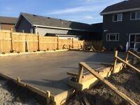 Garage pads ,side walk ,walk way,concrete steps , returning wall