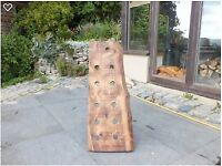 11 bottle oak wine rack