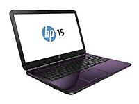Hp 15-G259sa Quad Core Laptop in purple