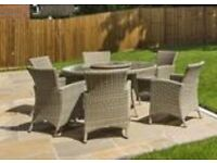 Bramblecrest Garden Set with 6 armchairs & lazy Susan NEW unused from luxury show home make offer