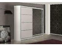💥💯BRAND NEW 2 AND 3 MIRRORED DOORS SLIDING WARDROBES WITH SHELVES, RAILS OPTIONAL LED LIGHT