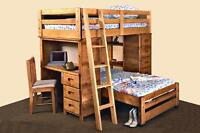 LOFT/Bunk bed with Drawers and Desk