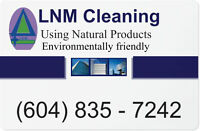 Cleaning, landscaping