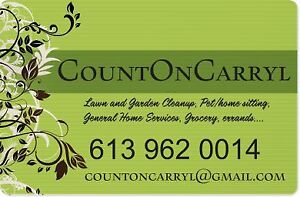 Do your gardens need a little sprucing up? COUNT ON CARRYl