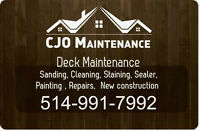 Deck Sanding and Staining - Free estimations