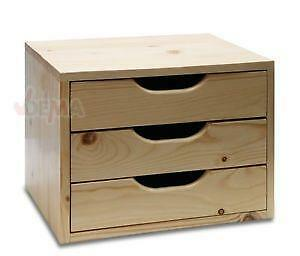 schubladenbox holz m bel wohnen ebay. Black Bedroom Furniture Sets. Home Design Ideas