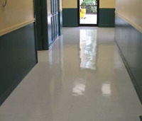 Floor strip and waxing done by professionals
