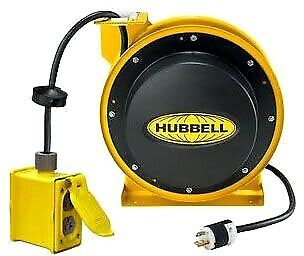 BLOWOUT PRICE!!! HUBBELL HBL45123R220 Duplex Cord Reel