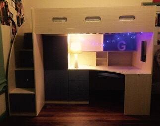Desk Bunk Bed  Branxton Singleton Area Preview