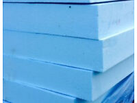 3 large pieces of EXTRUDED STYROFOAM BLUE (100mm)
