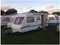 Lovely Swift Accord 550 Fixed Bed 4 Berth Caravan
