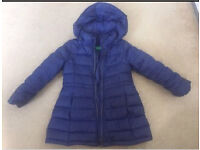Bennetton goose feather coat 3-4 years