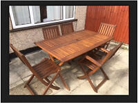 Wooden Table And Chairs Set Garden Outdoor Furniture NEED QUICK SALE