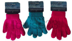 G06 3prs KIDS BOYS GIRLS BACK TO SCHOOL WINTER WARM MAGIC GLOVES COLD PROTECTION