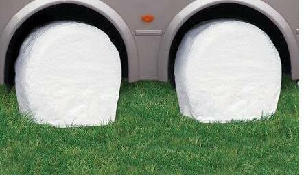 NEW RV Wheel Tire Covers Set of 4 For RV Trailer Truck Car And Motor Home OY