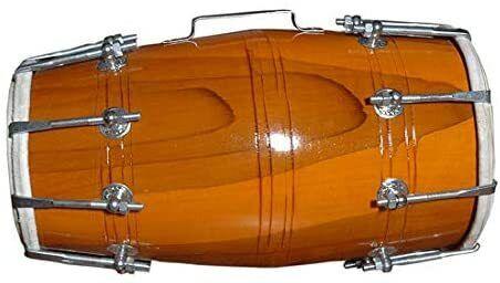 Wood Indian Nuts N Bolt Folk Musical Instrument Dhol/Dholak/Dholki Drum.