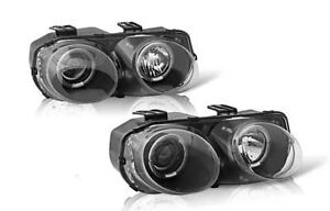 98-01 ACURA INTEGRA PROJECTOR  HEADLIGHT HEADLAMP HEAD LIGHT LAMP BLACK PAIR
