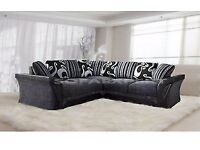 Black gray corner sofa( one year old )