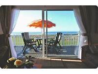 Craig Tara Ayr *Beachfront* Caravan/ Lodge (14ft) Wide. Stunning Sea Views, Enclosed Veranda