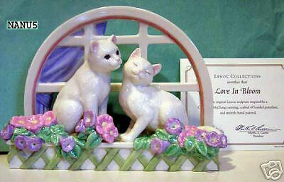 - LENOX LOVE IN BLOOM CAT Kitten window sculpture NEW in Box with COA
