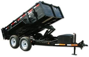 Hydraulic dump trailer for rent