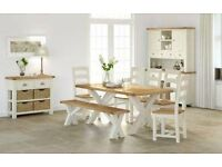 New cream and oak large kitchen island with granite top £699 view it today