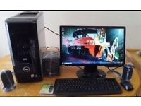 """SAVE £50 -VERY SWIFT SSD Dell XPS 420 Quad Core Gaming Desktop Computer PC With BenQ 23"""" HD"""
