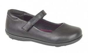 GIRLS KIDS BLACK BACK TO SCHOOL SHOES MARY JANE FORM