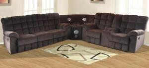 brown sectional sofas (GL263)