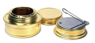 Brass Alcohol Burner Camping Stove with Variable Temperature Control Lightweight