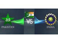 4 x India v Pakistan ICC Champions Trophy. PLEASE READ DESCRIPTION
