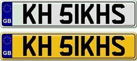 SINGH KHALSA KHALISTAN KHANDA SIKH'S a priceless and rare private number plate for sale