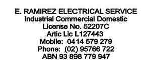 Ed Ramirez Electrical Services Sutherland Sutherland Area Preview